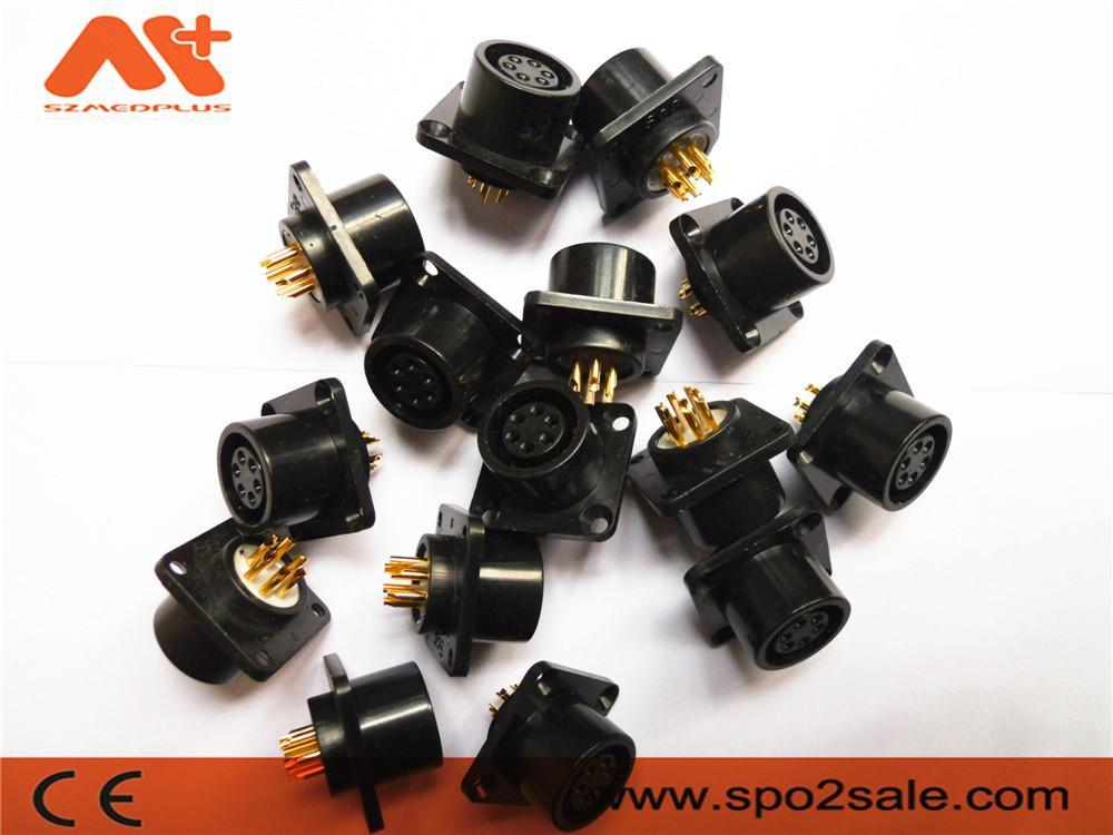 AMP6針心電插座 2