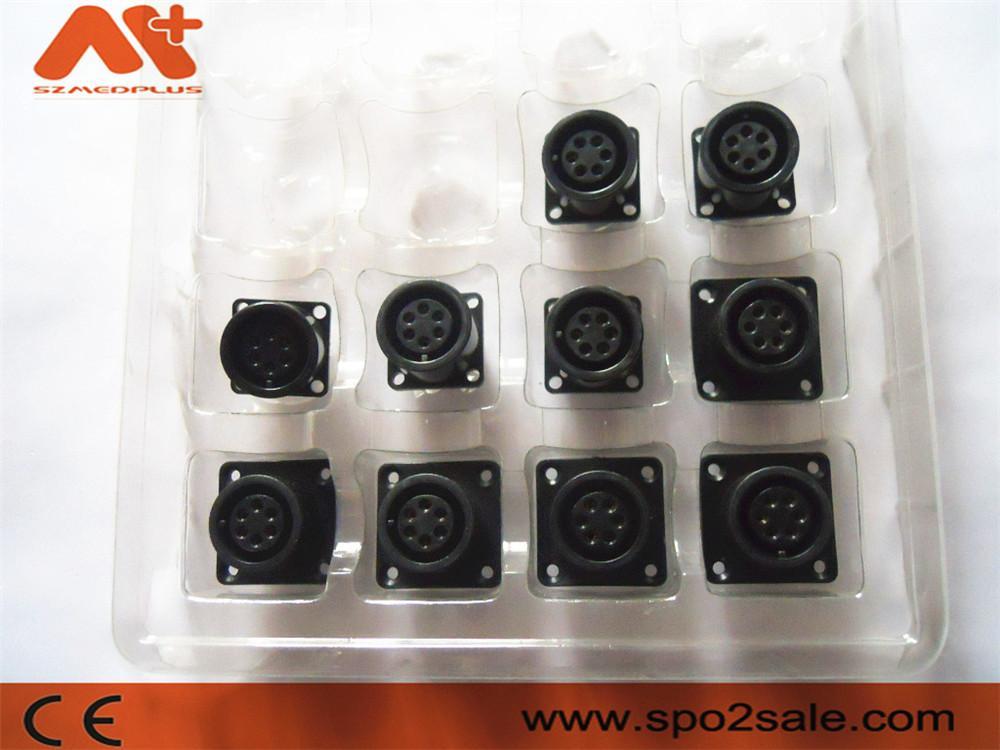 AMP6針心電插座 3
