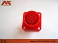 AMP6針心電插座 4