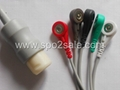HP M1736A one piece 5-lead  ECG cable with leadwires