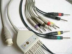 NEC YY-1063 一體心電圖機導聯線