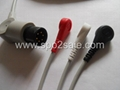 One piece 3-lead ECG Cable with leadwires