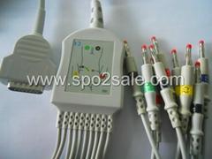 马葵MAC-1200一体心电图机导联线