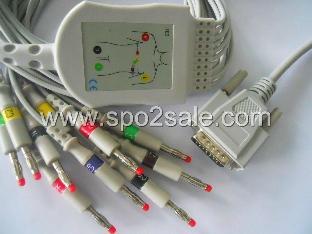 Nihon Kohden 901D 10-lead EKG cable Cardiofax Q Ecg-9110k, 9130k, 9620p  1