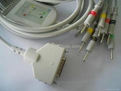 福田FX-101一体心电图机导联线