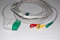 Nihon Kohden one piece cable with 3-lead snap IEC leadwires  1