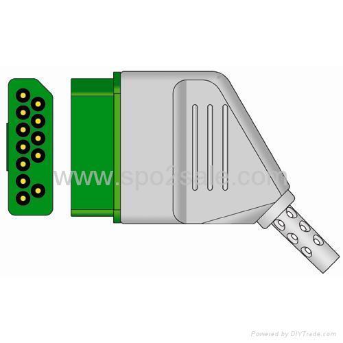 日本光电一体扣式欧标三导连 2