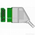 Nihon Kohden JC-906P ECG 3-lead Trunk Cable 2