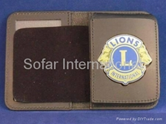Leather Badge Holders, Badge Cases & Men's Leather Wallets
