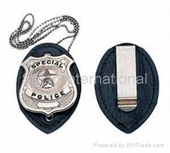 Leather Badge Holder Wallet/ Badge Holder Case/ ID Card Holder