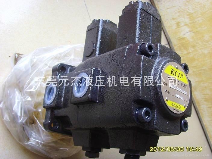 台湾凯嘉KCL油压泵浦、 VPKCC-F2323A1A1-01 双联叶片泵