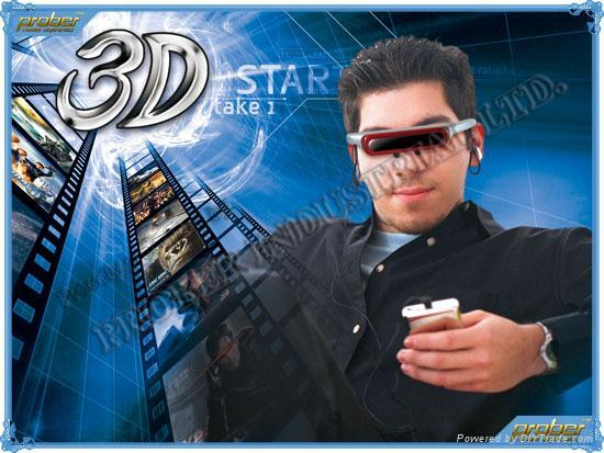 Video Eyewear/3D Video Eyewear/Video Glasses/920k Pixels Video Eyewear 80inch 2