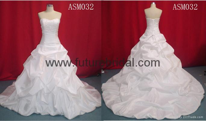 wedding bridal dresses wedding gown evening dress fishmaid dress (1894) 3