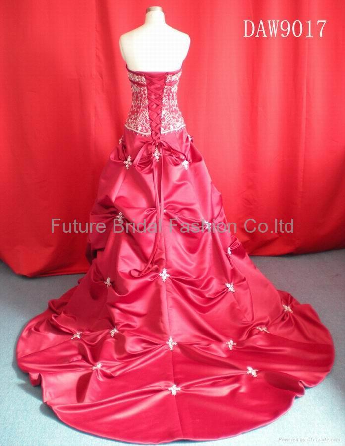 Wedding bridal gown dress and evening dress (DAW9017) 3