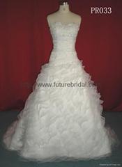 Wedding gown dress& brid