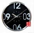 Factory outlets -stainless steel wall clock mute - 34CM diameter 1