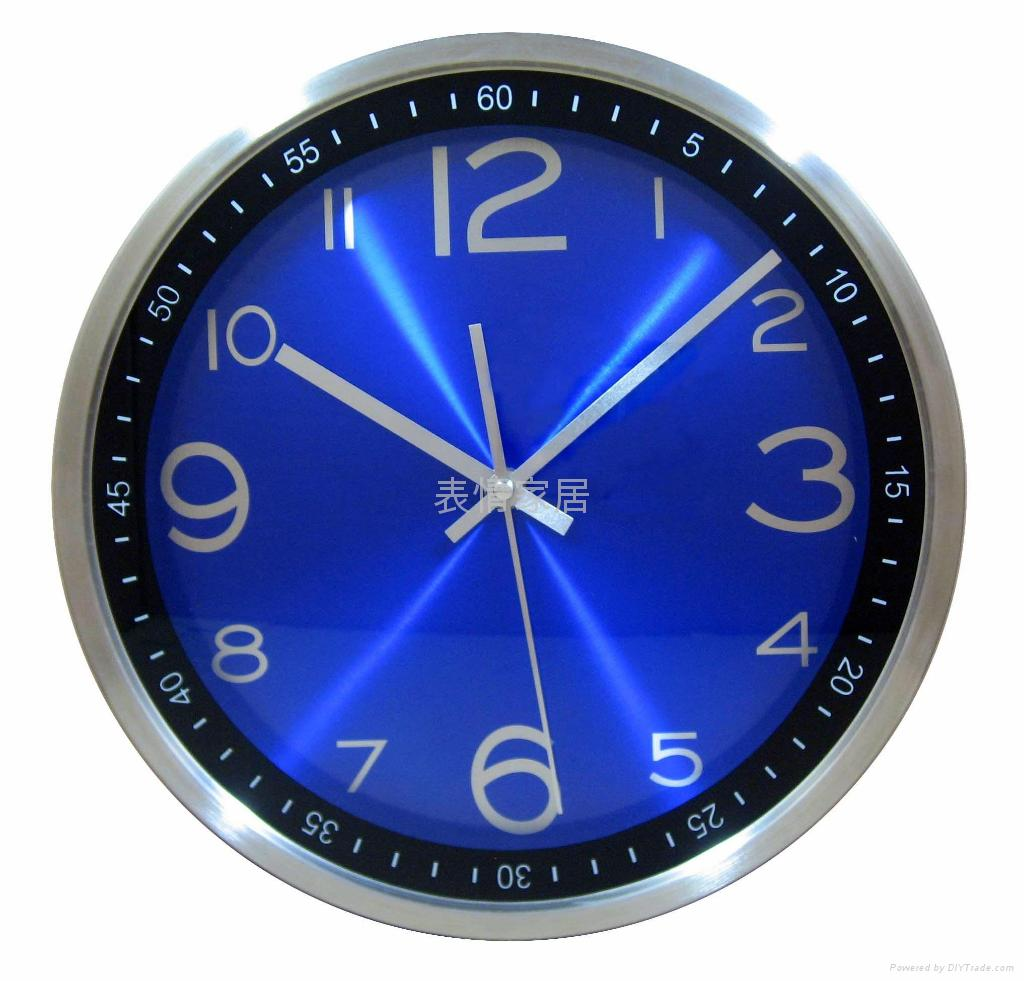 Factory outlets -stainless steel wall clock mute - 34CM diameter 2