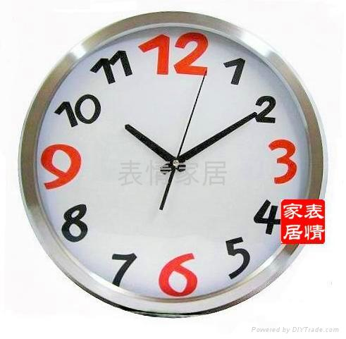 Factory outlets -stainless steel wall clock mute - 34CM diameter 3