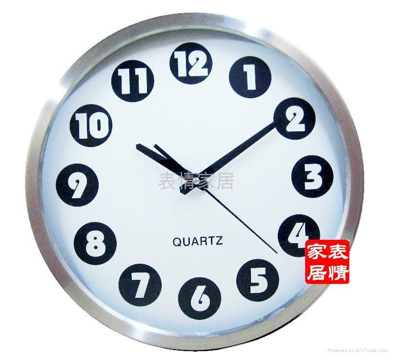 Factory outlets -stainless steel wall clock mute - 34CM diameter 5