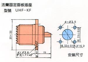 UHF型视频连接器 3