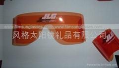 Orange roll up sunglasses