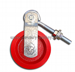 "Double 3 1/2"" cast iron Red pulley (Hot Product - 1*)"
