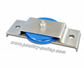 "Pulley nylon 2-1/2"" vertical mount w/SS brkt (blue)"
