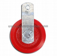 "Pulley 3-1/2"" Cast Iron,Red"
