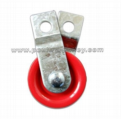 "Pulley 1-3/4"" fiberglass Split Red"