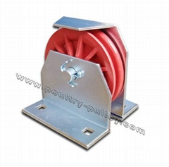 """Pulley 3-1/2""""nylon/plastic with bracket vertical composite"""