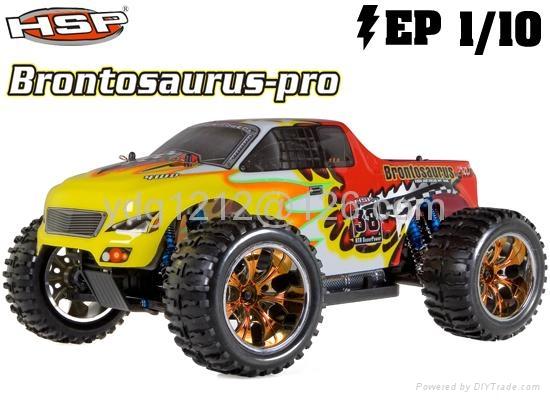 HSP 1/10th Brontosaurus Brushless RC Monster Truck with li-po battery  6