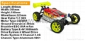 94081E9 2.4G 1/8 Brushless off-road Buggy with 3600mah li-po battery 3
