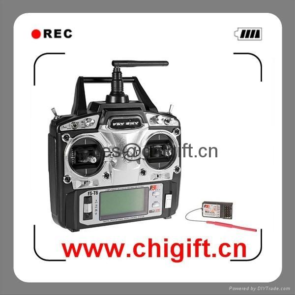 Flysky FS-T6 2.4GHz 6-CH Radio Rc System Transmitter & Receiver