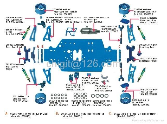 1/16 nitro buggy parts