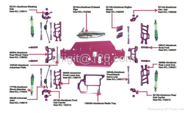1/10 nitro truck parts