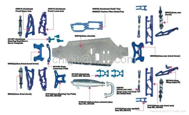 1/8 nitro truck parts
