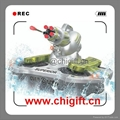 24883B Amphibious RC Tank with Shooting Function