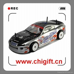 1/10 4wd rc drift car with Carbon Fiber Chassis and Belt drive