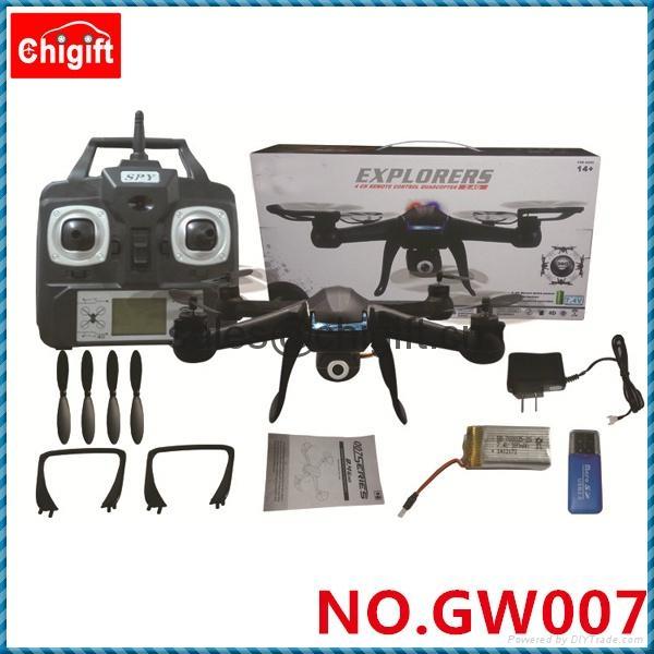 007 RC Quadcopter w/ HD Camera 6 Axis Gyro  Spy Explorers 4ch Quad  Copter   4