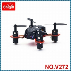 World's Smallest  V272 2.4G 4CH 6 Axis Nano RC Quadcopter