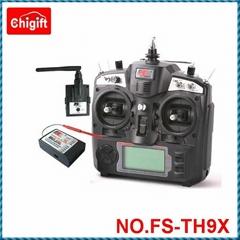 FlySky FS-TH9X 2.4G 9 Channel RC Transmitter & Receiver w/ LED Screen