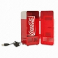 Novelty Mini USB PC Fridge Refrigerator Drink Cans Cooler & Warmer