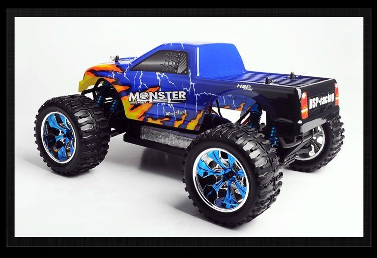 HSP 1/10th Brontosaurus Brushless RC Monster Truck with li-po battery  7