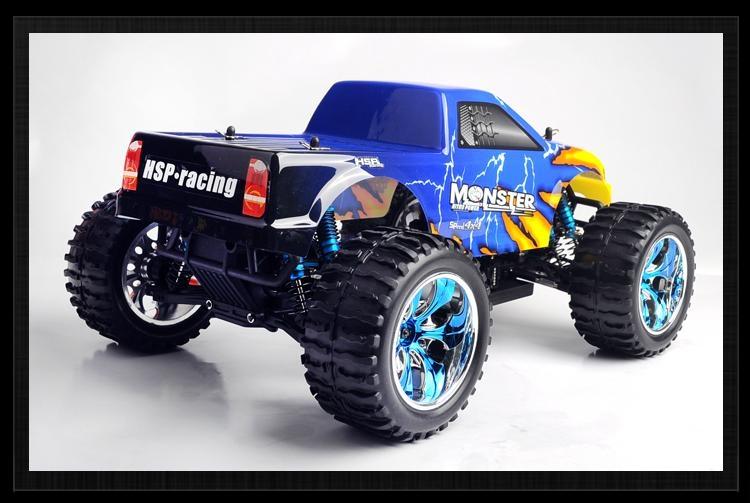 HSP 1/10th Brontosaurus Brushless RC Monster Truck with li-po battery  8