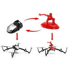 JY004A Stunt Master 2 In 1 2.4G 6-Axis 6CH Inverted Flight RC Quadcopter With Li