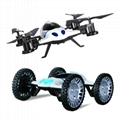 L6055  RC Car Drone 2 IN 1 2.4G RC Quadcopter UFO Flying camera drone