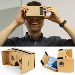 Google Cardboard 3D VR Virtual Reality Glasses For Google Nexus 4/5 Samsung