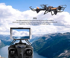 U842 Predator WiFi FPV Drone with HD Camera 2.4G 4CH 6 Axis Gyro RTF