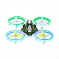 XD 399  RC Quadcopter Drone Starship Altitude Hold LED Colorful Light UFO