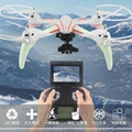LED RC Quadcopter Toy Drone Q696 2.4G